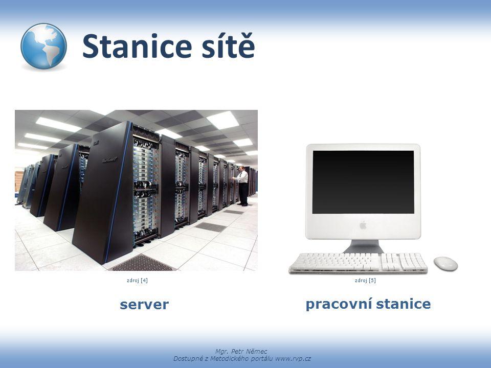 Stanice sítě zdroj [4] zdroj [5] server pracovní stanice